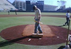 dirt pitching mound
